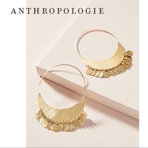 Anthropologie Cara Coin Hoop Earrings